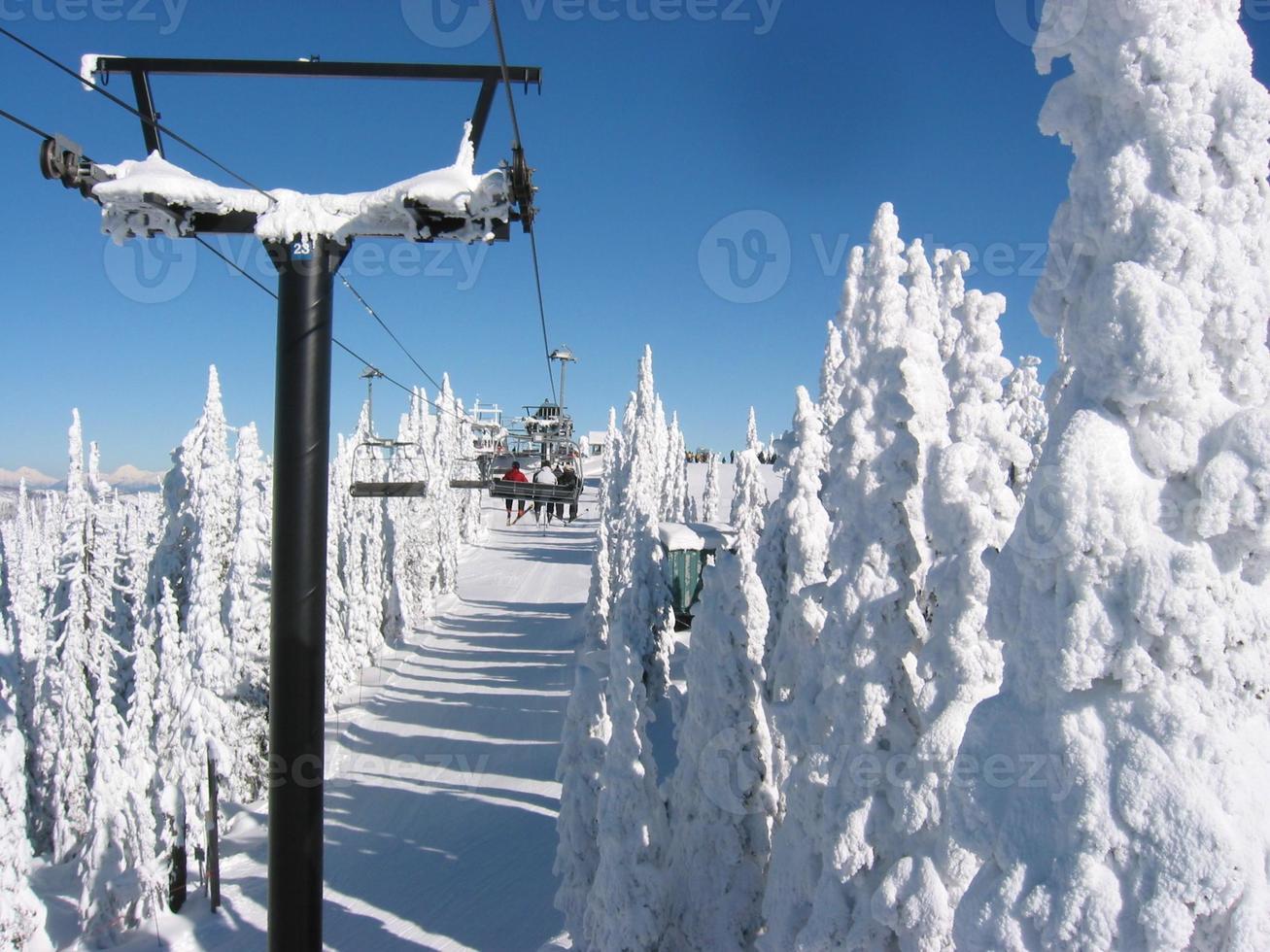 fantastisk dag för skidåkning foto