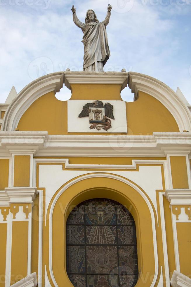 santo domingo kyrka i trujillo - peru foto