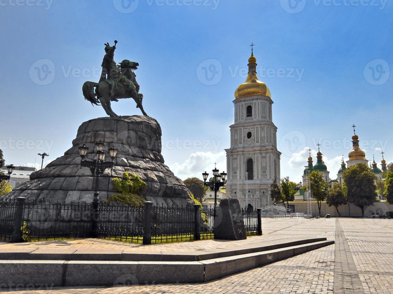 st. sophia square i kiev foto