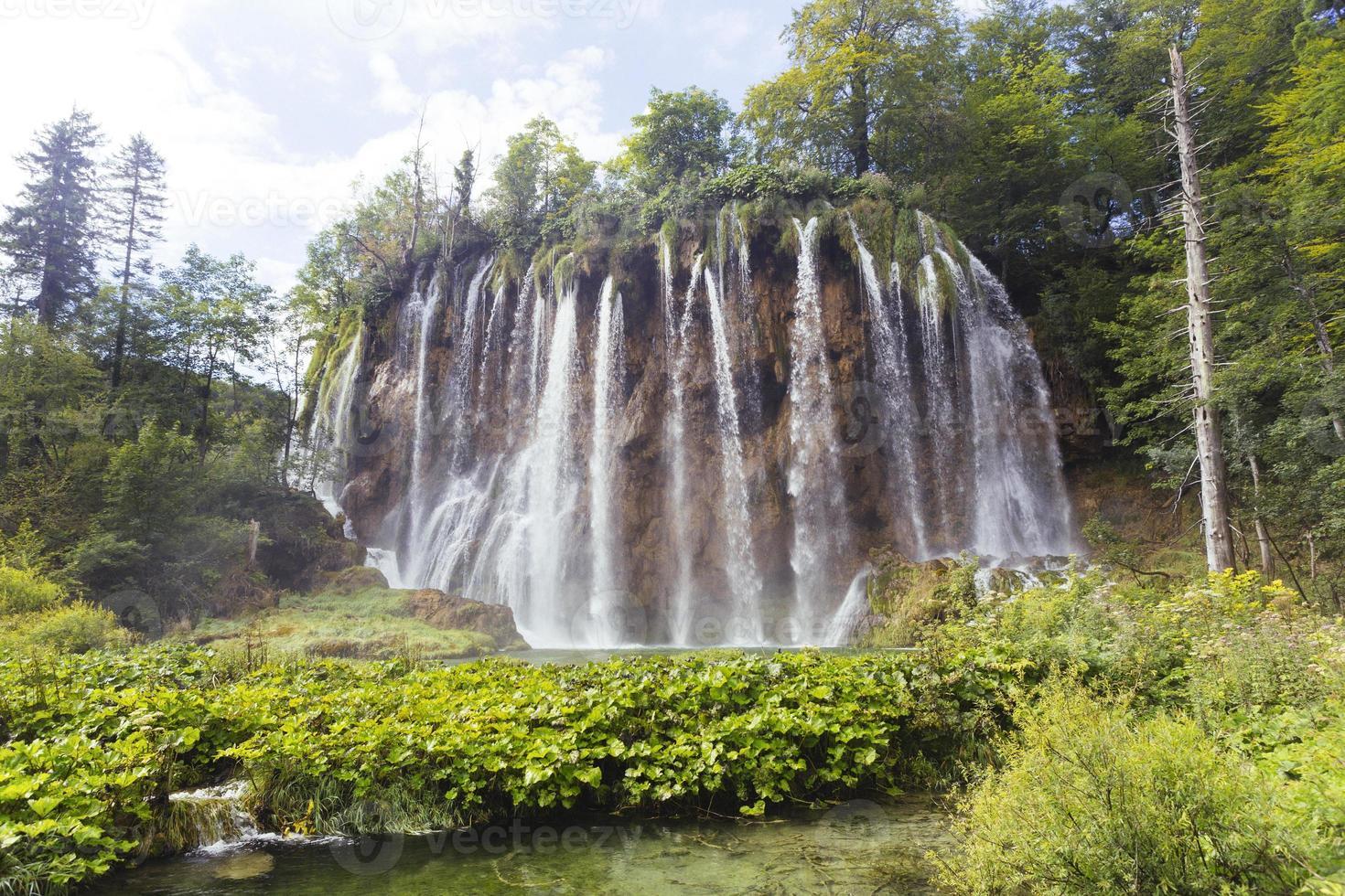 Plitvice sjöar vattenfall foto