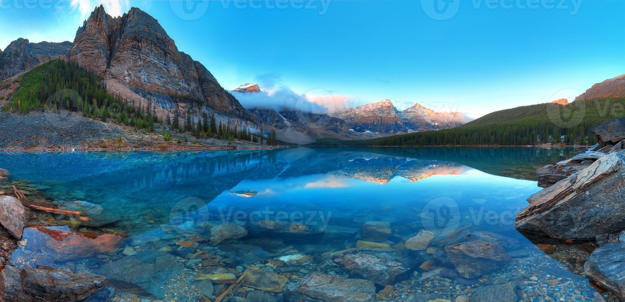 morän sjö panorama foto