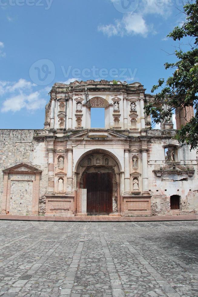 antigua, guatemala: kyrkosamhället av jesus, grundat 1626 foto