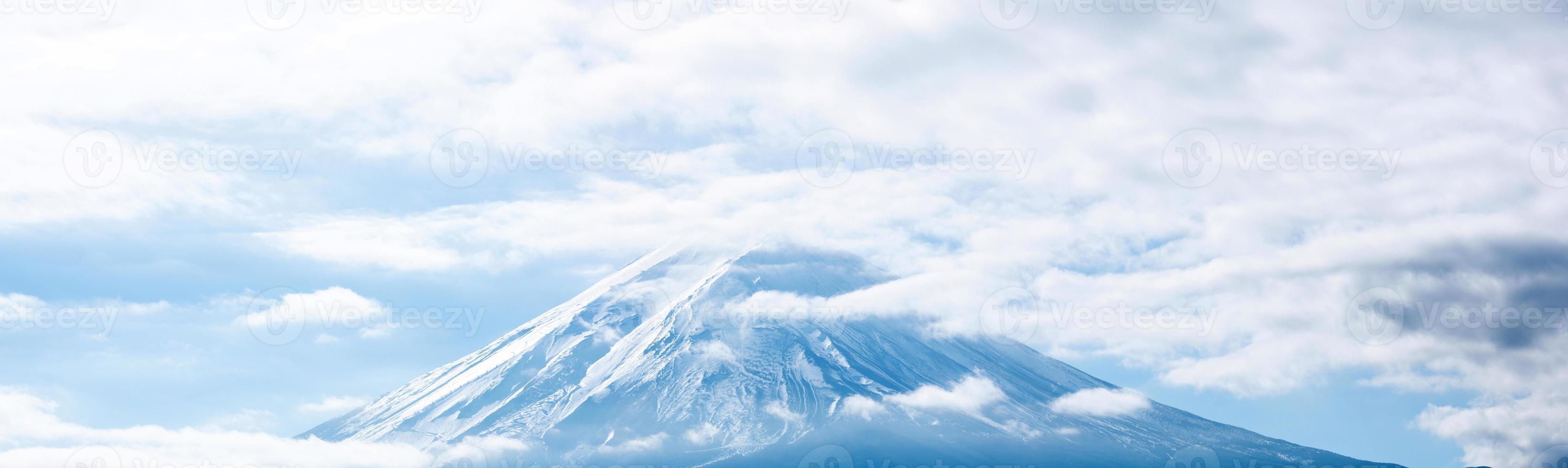 panorama över berget fuji foto