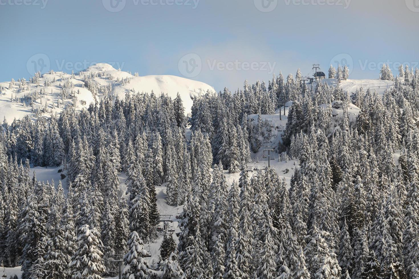 monter seymour peak, nysnö, vancouver foto