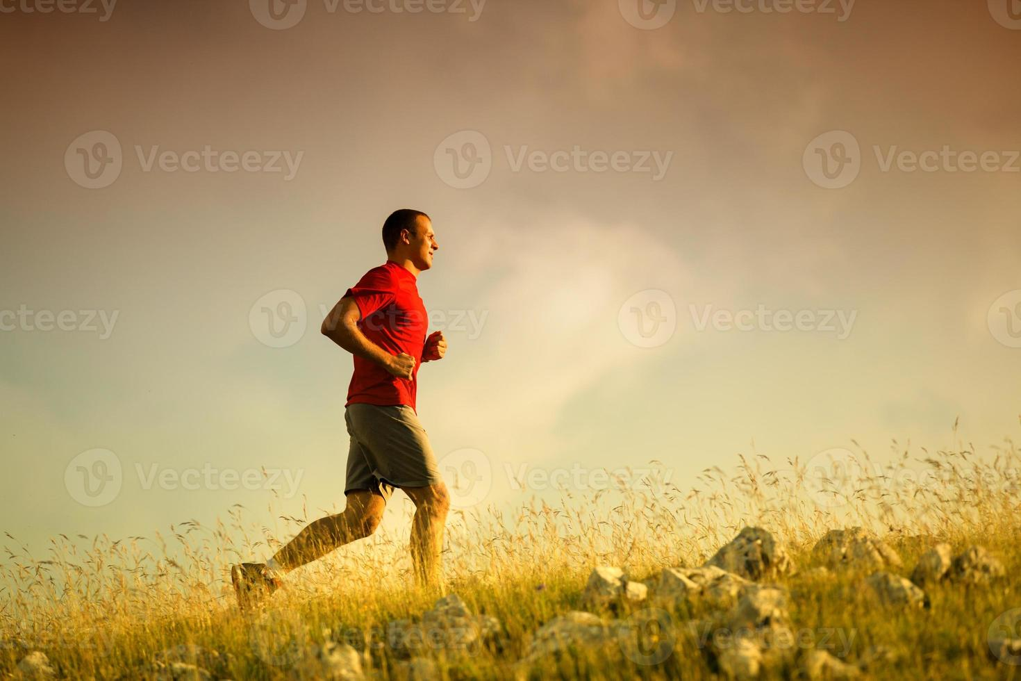 kör fitness man foto