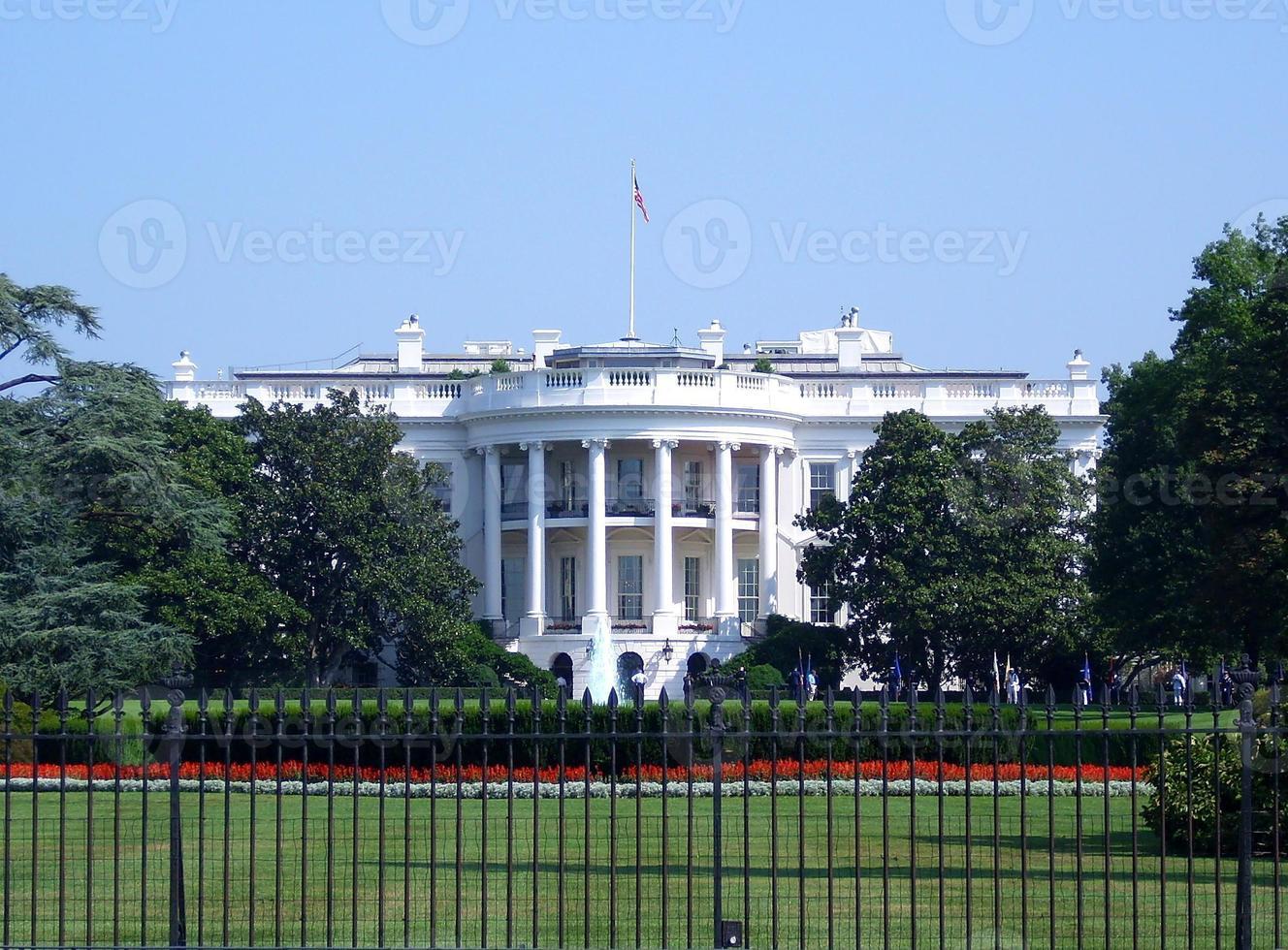 vitt hus i Washington DC foto