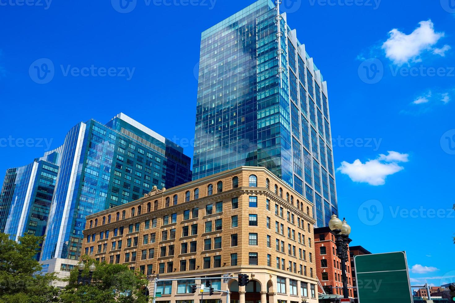 boston massachusetts downtown buidings foto