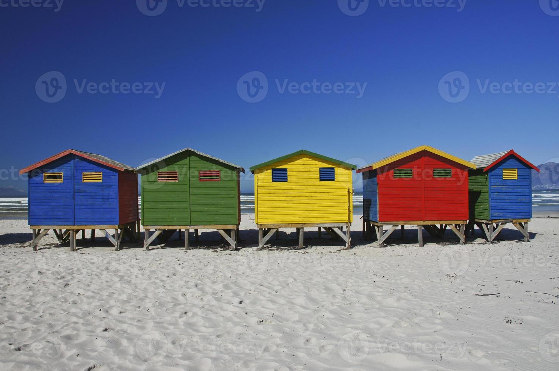 vacker muizenberg strand utanför Cape Town Sydafrika foto