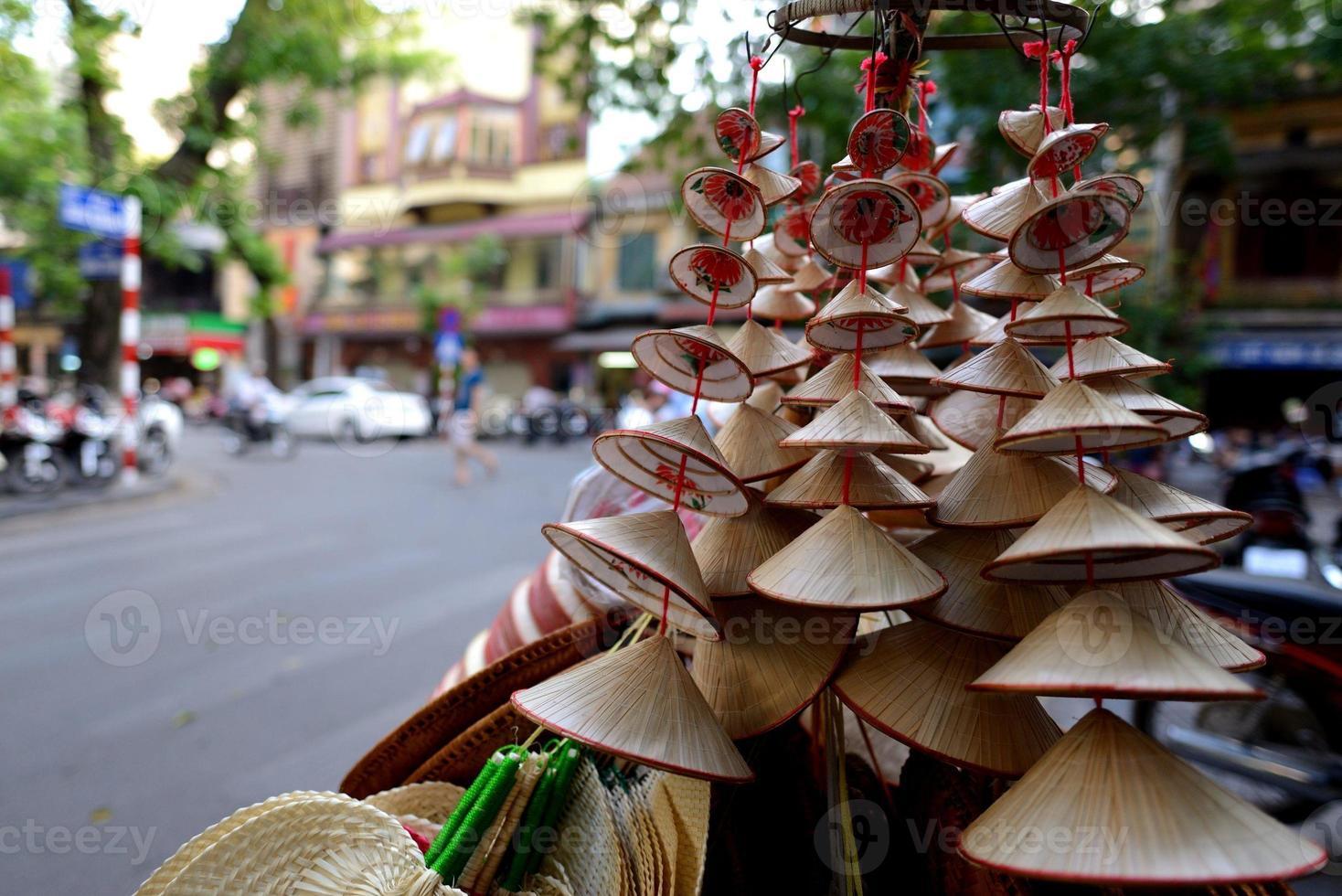 vietnamesisk stråhatt foto