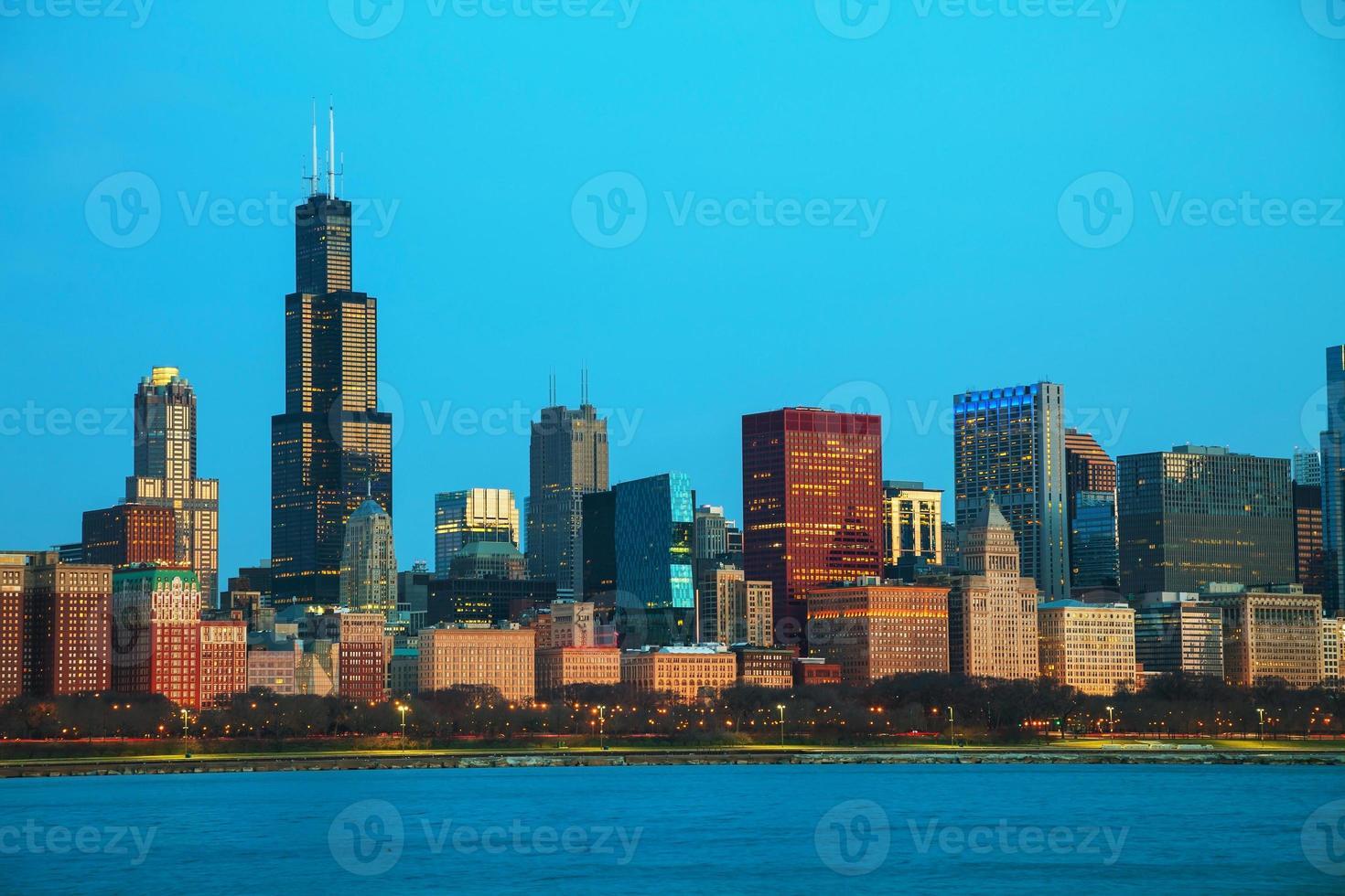 chicago centrum stadsbild foto