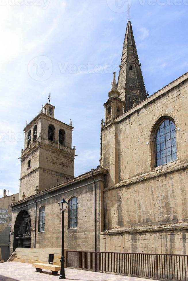 """santa maria de palacio"" kyrka, i logroã ± o. Spanien. foto"