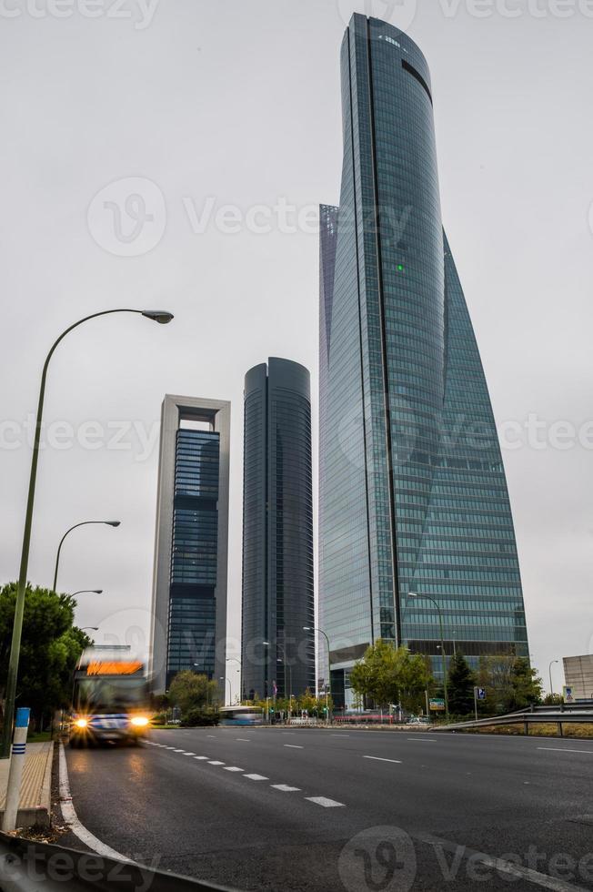 madrid skyskrapor.spain. foto