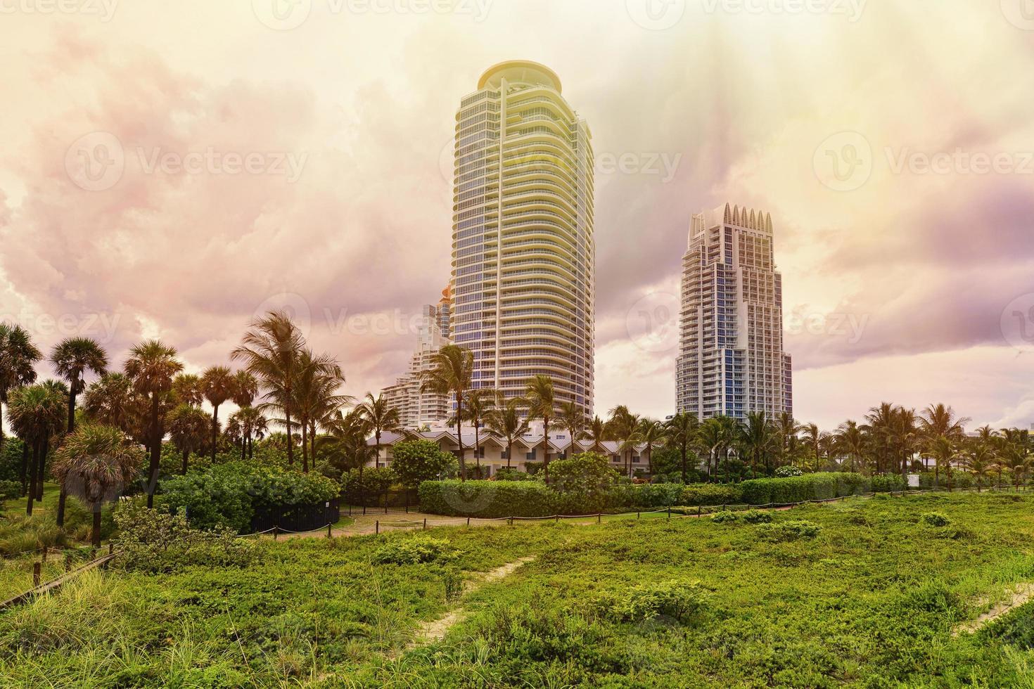Miami Beach solnedgång foto