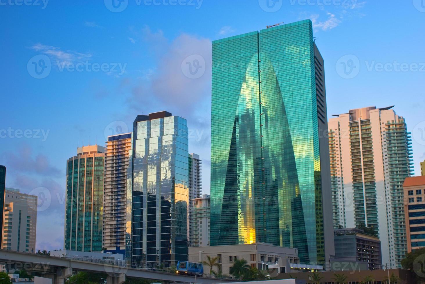 downtown miami byggnader foto