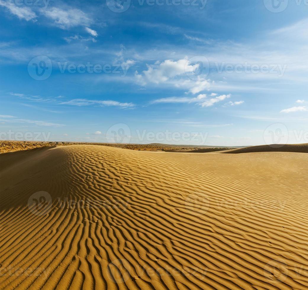 sanddyner i Thar Desert, Rajasthan, Indien foto