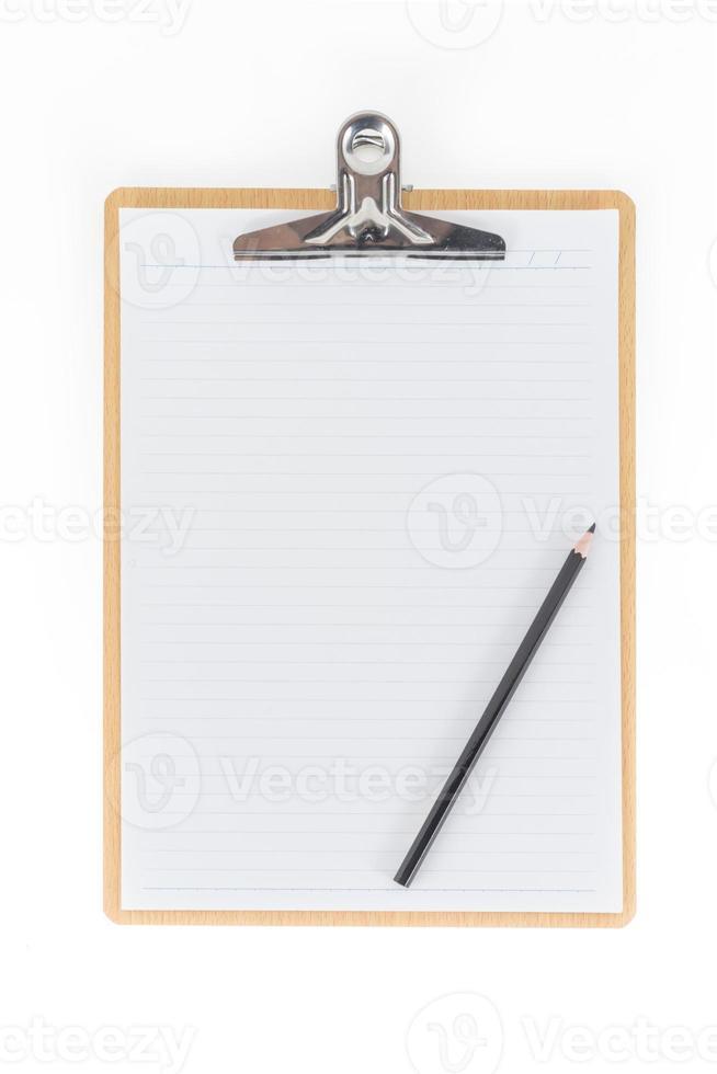 trä Urklipp använder för att fästa planeringspapper med blyerts på foto