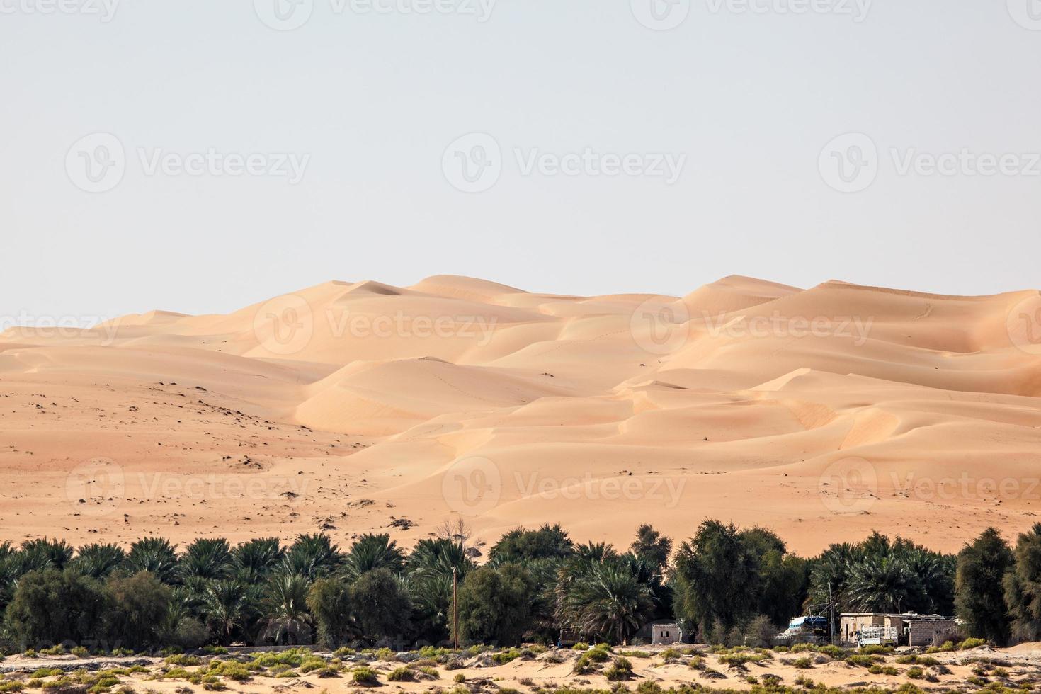 sanddyner i den tomma kvartsöknen foto