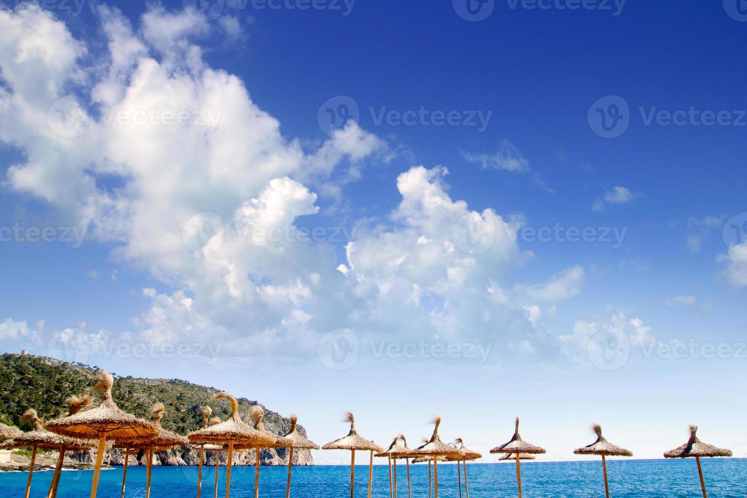 camp de mar i andratx från Mallorca Baleariska ön foto