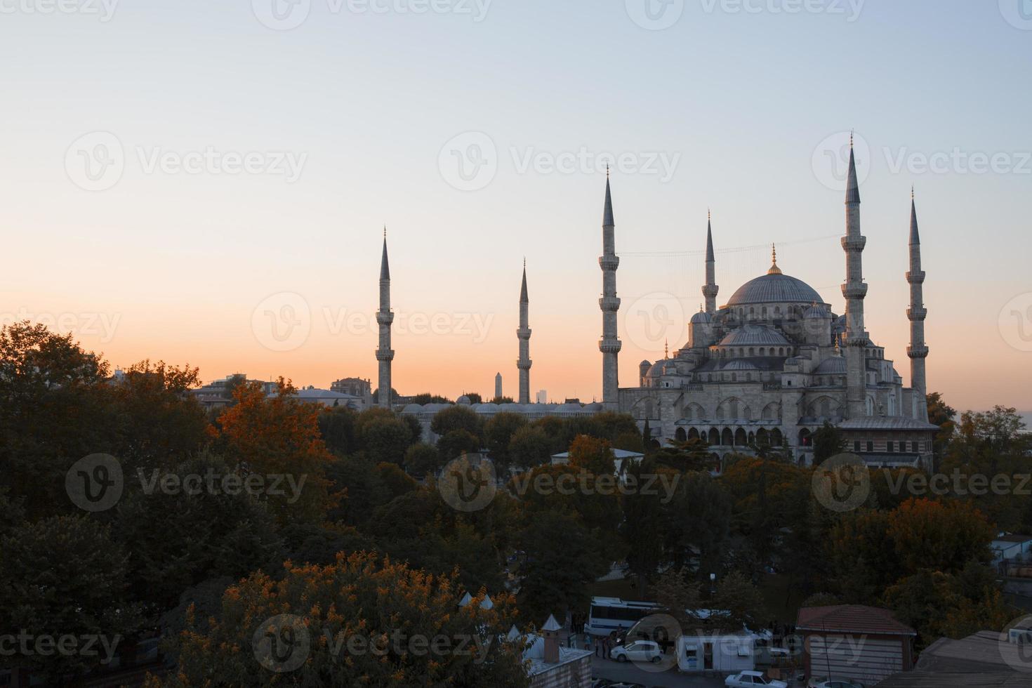 blå moské och hagia sophia foto