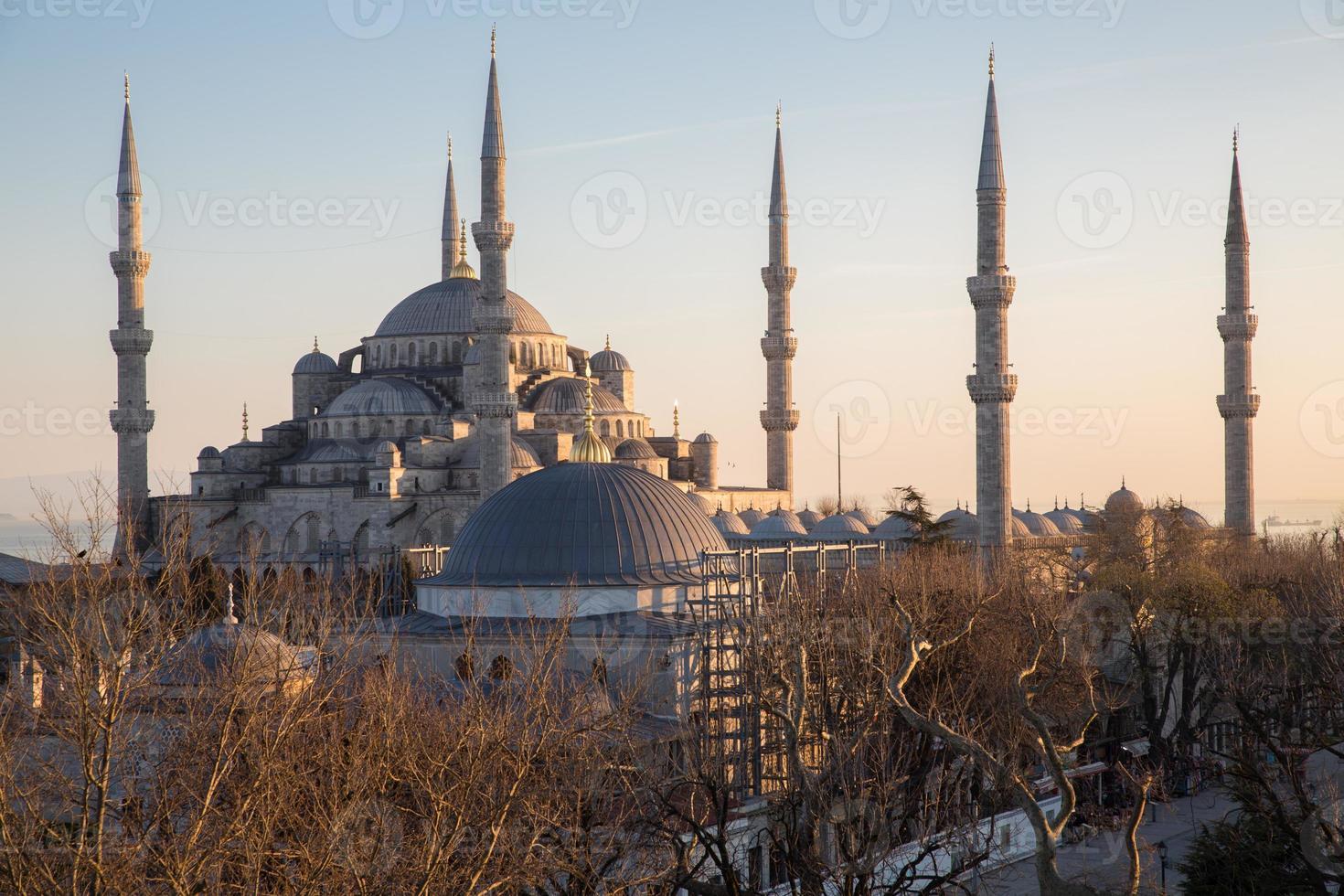 blå moské, istanbul, kalkon foto