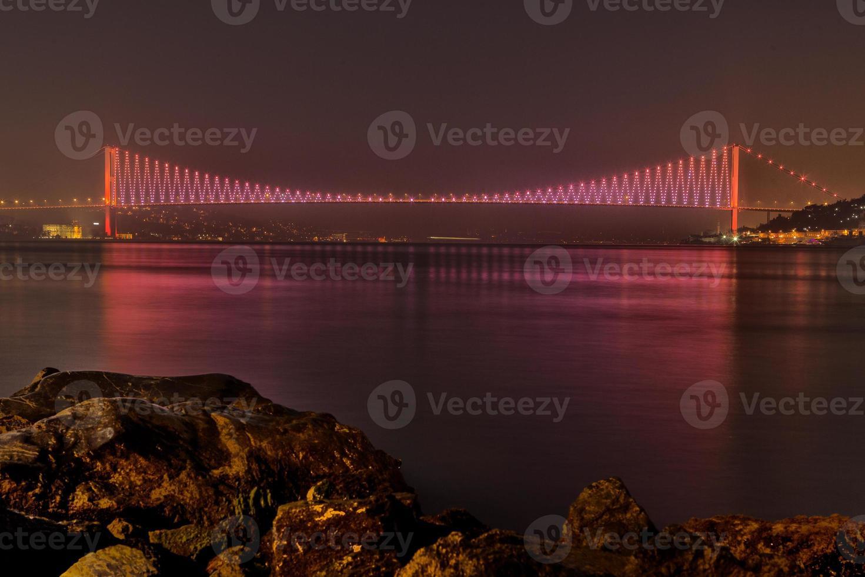 bosphorus bridge, istanbul, turkiet foto