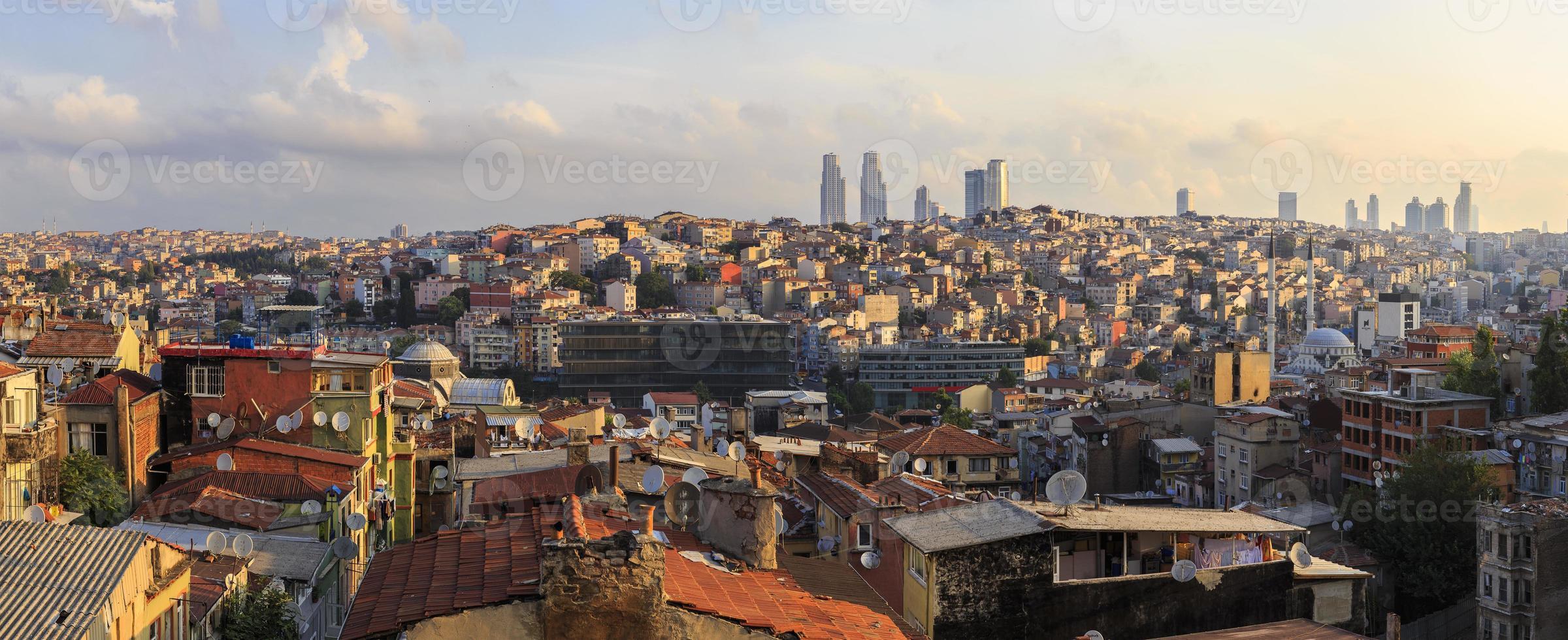 panorama över istanbul taksim.turkey foto