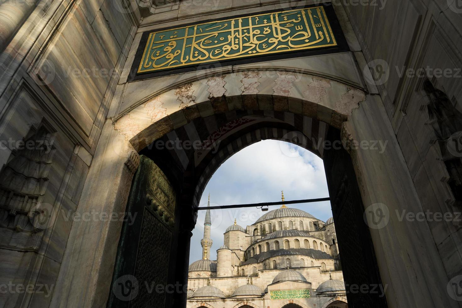 sultan ahmed blå moské, istanbul kalkon foto