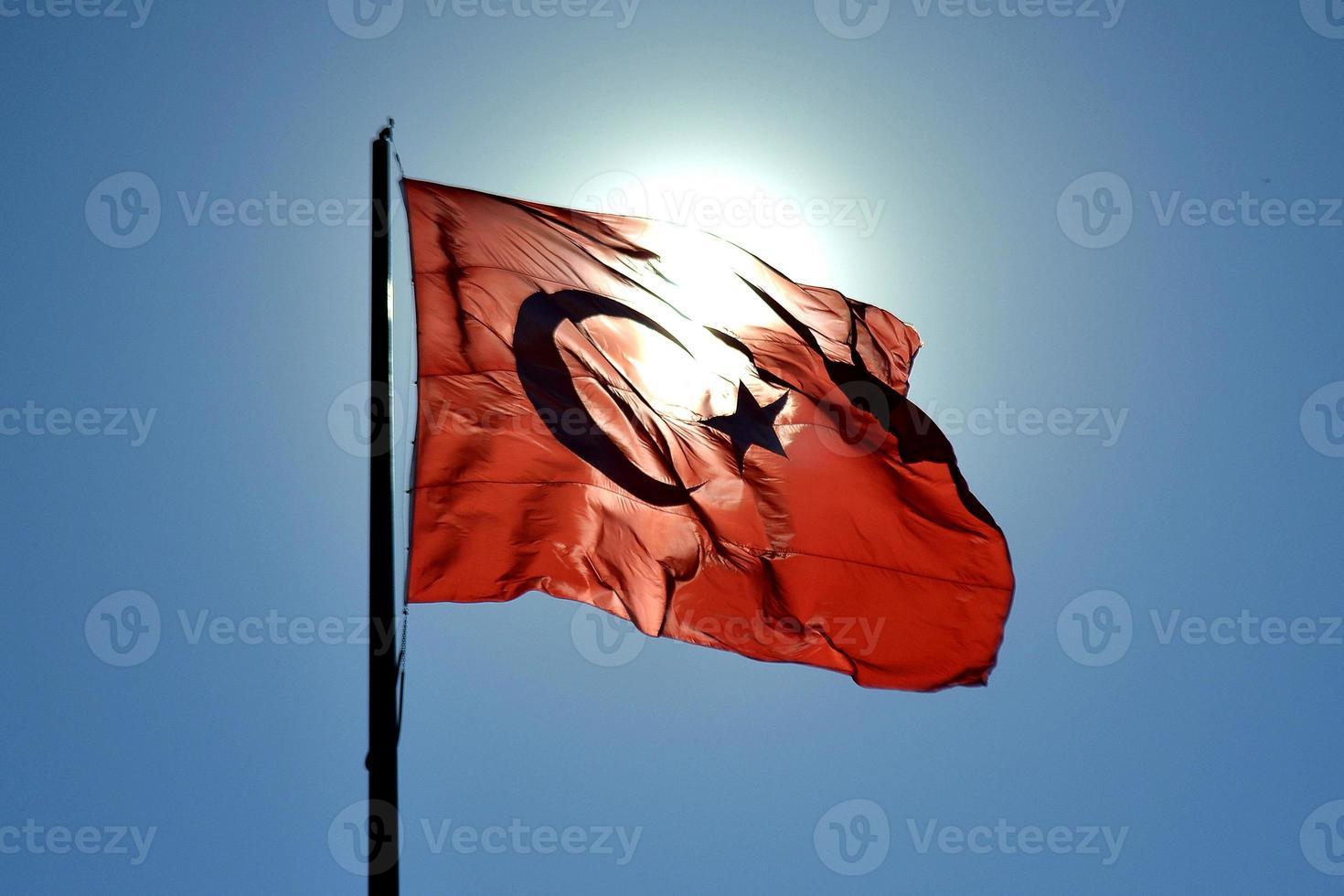 Turkiet flagga foto