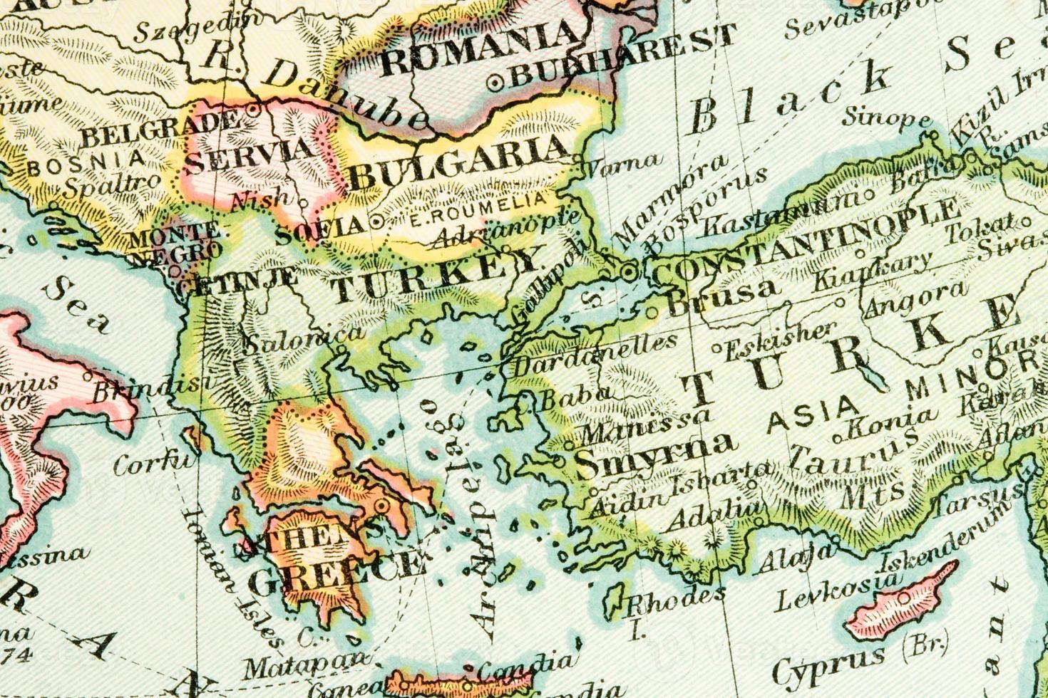 antik karta foto
