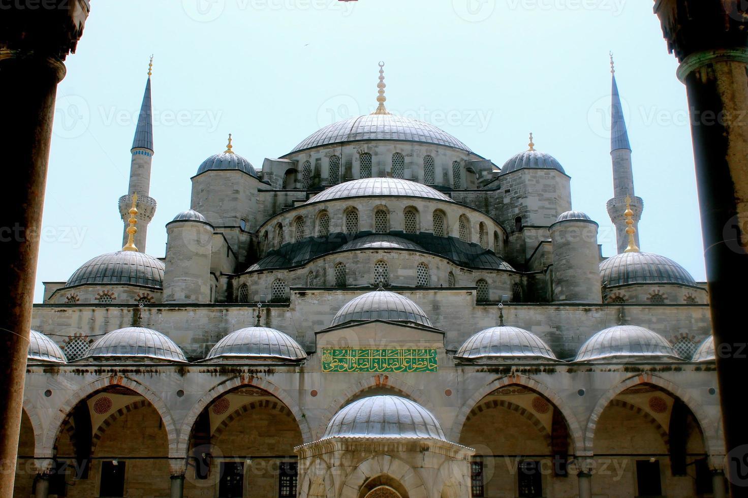 ingång för blå moské foto