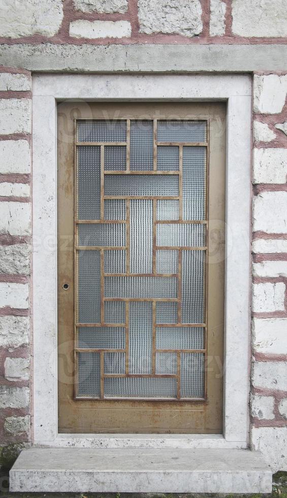 närbild metall dörr, dörr av texturerat foto