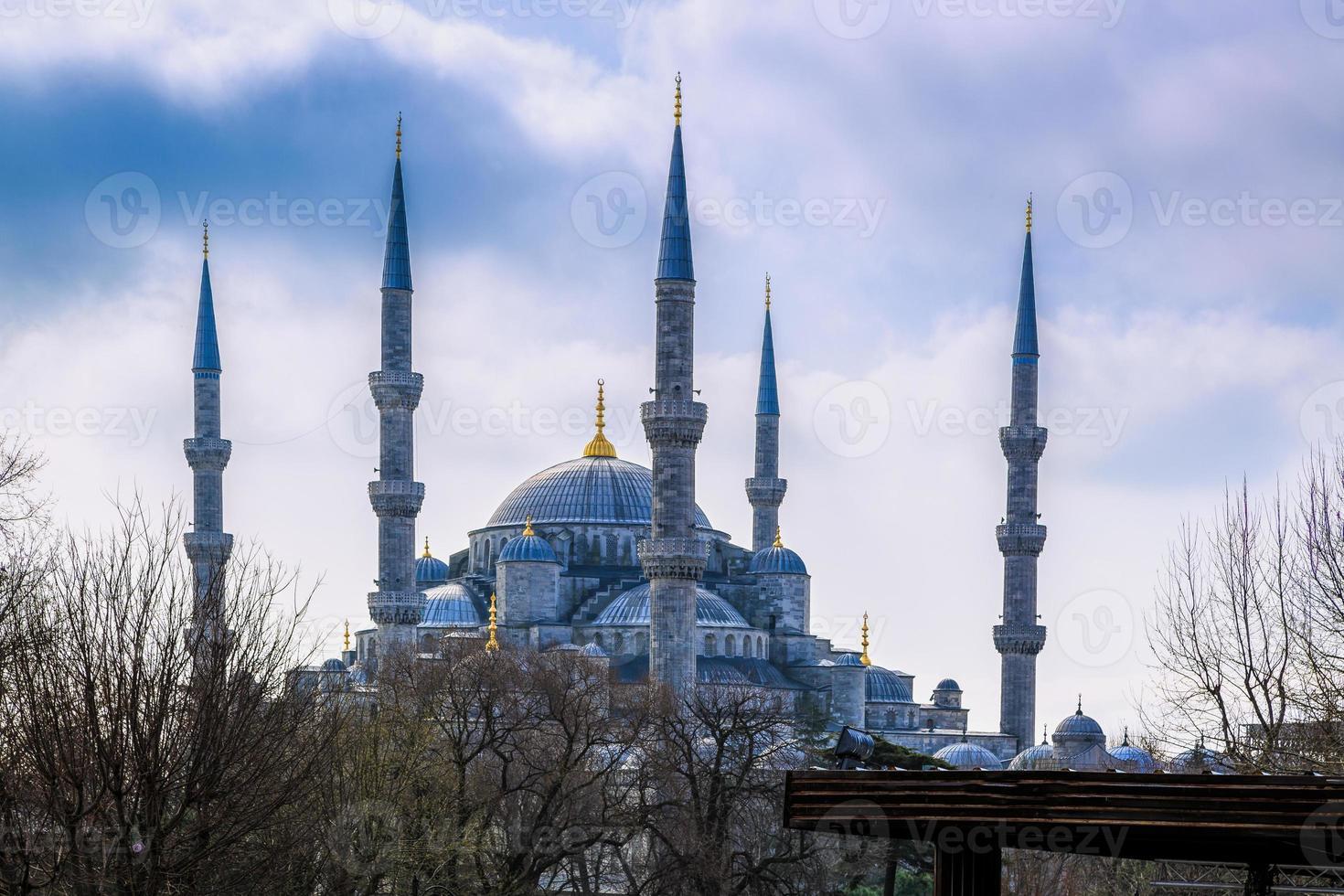 blå moské. foto