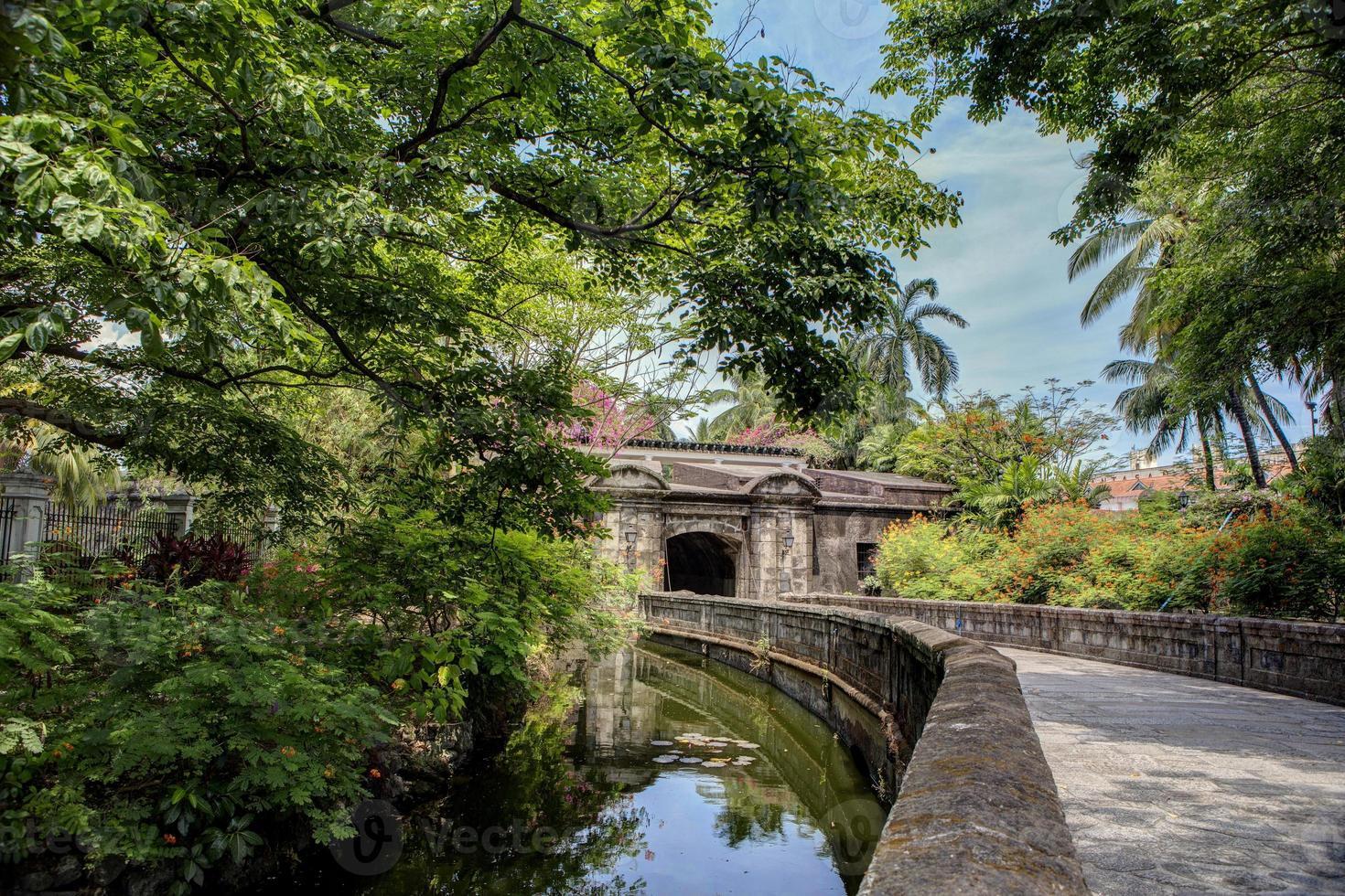 intramuros gamla stad i Manila foto