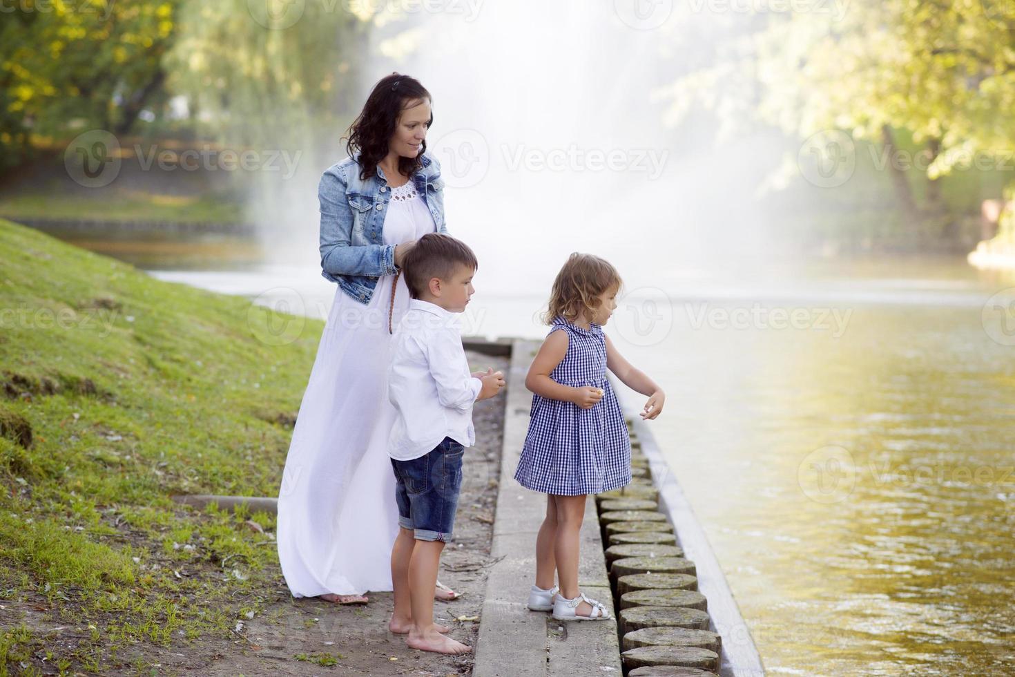 vacker familj foto