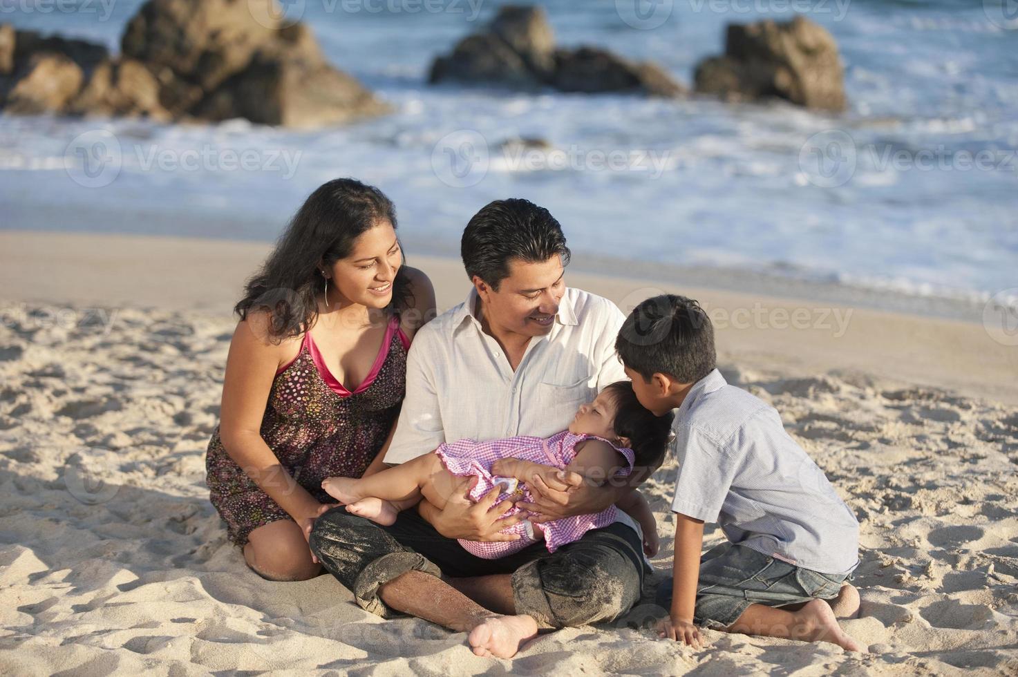 söt latin familj foto