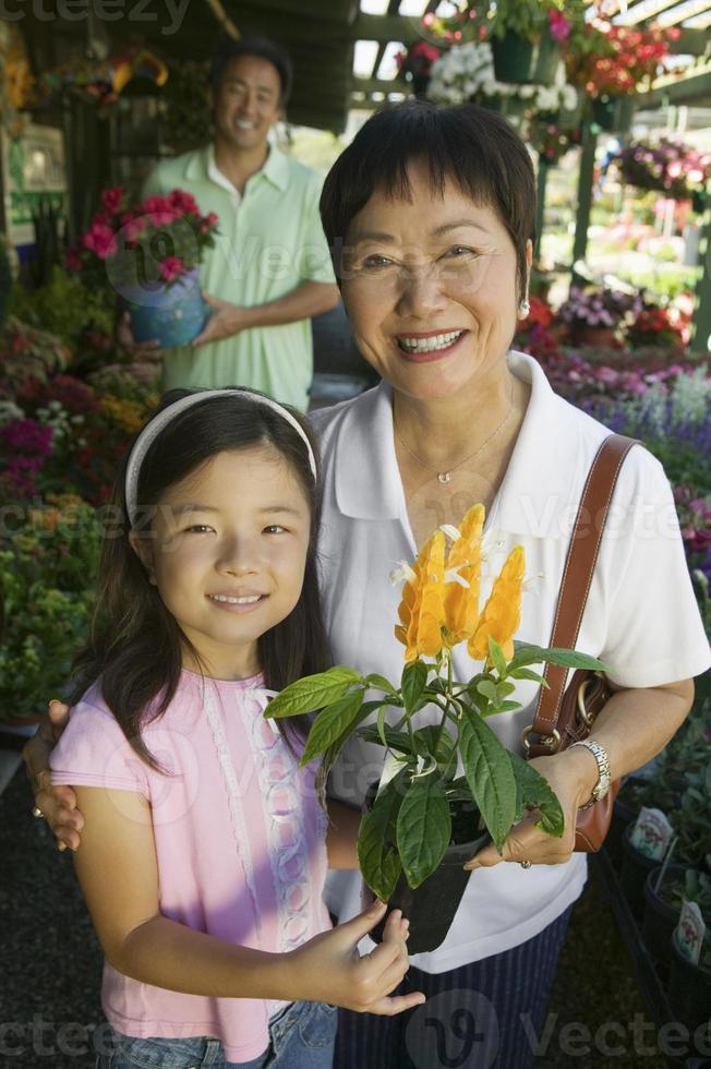 familjshopping för växter foto