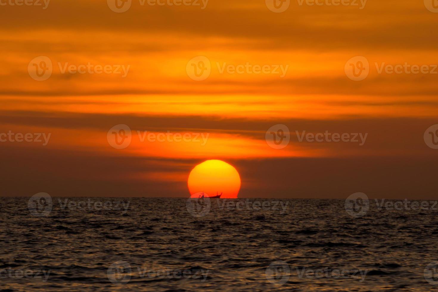 andaman solnedgång. foto