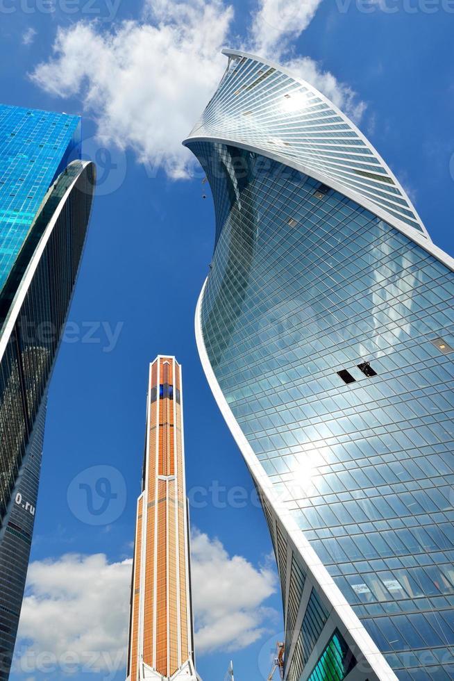 skyskrapor i Moskva internationella affärscentrum foto