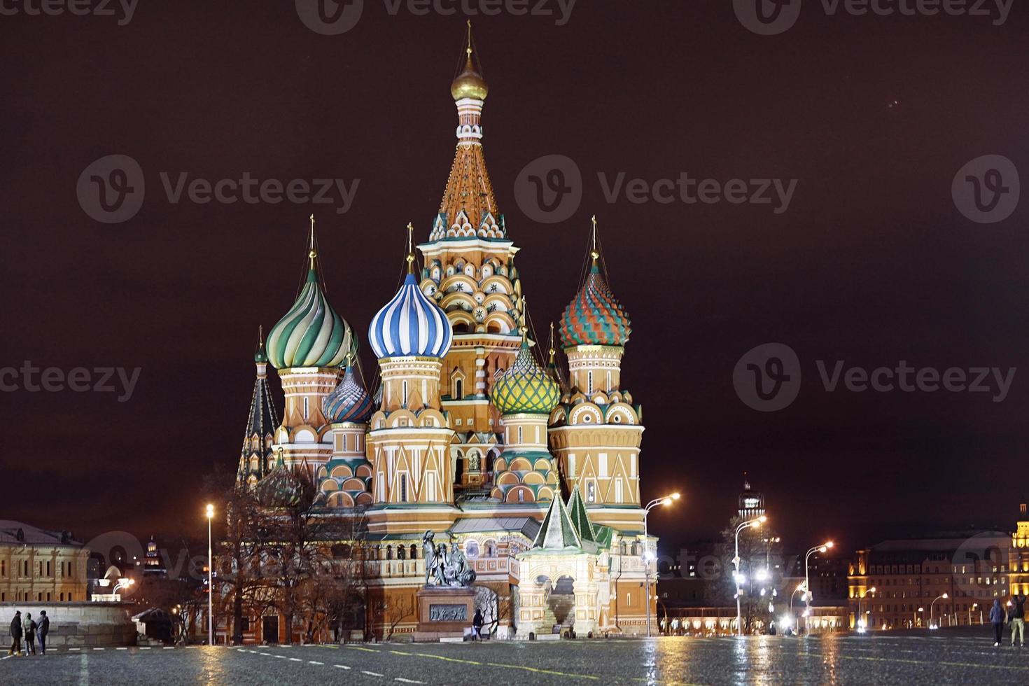 st. basilkatedralen, Moskva kreml, natt foto