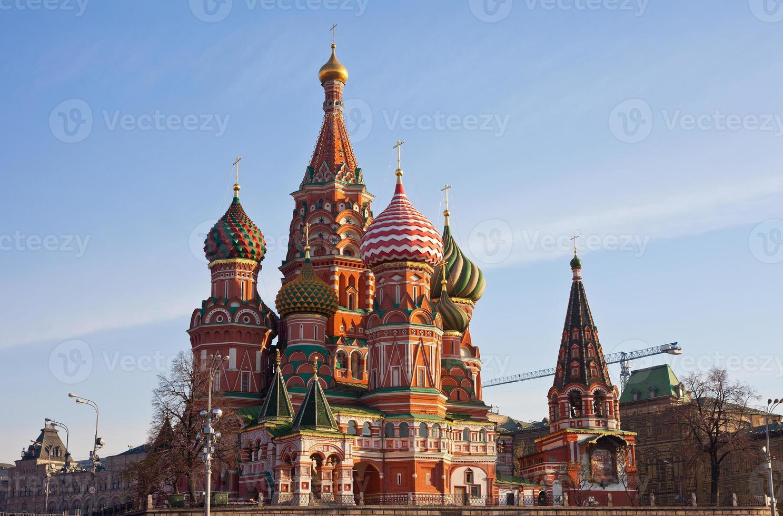 st. basilika domkyrka på Röda torget, Moskva foto