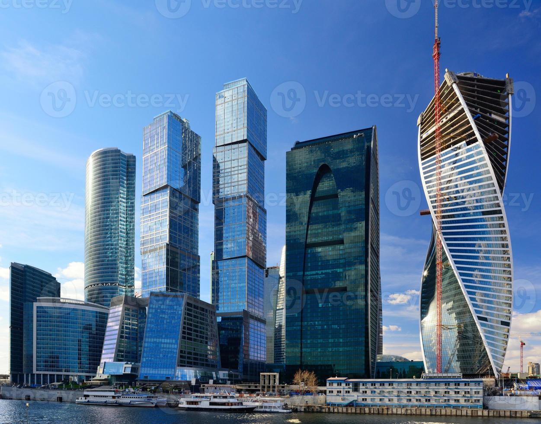moderna skyskrapor foto