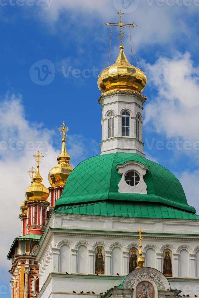 kyrka i trinity sergius lavra i sergiev posad foto
