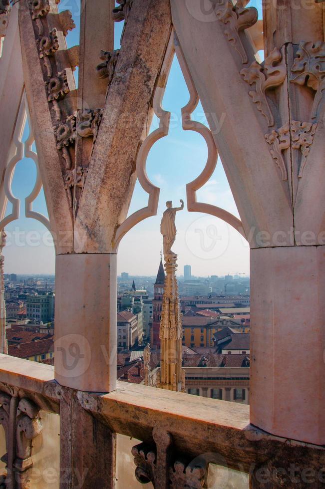 utsikt över milankatedralen foto