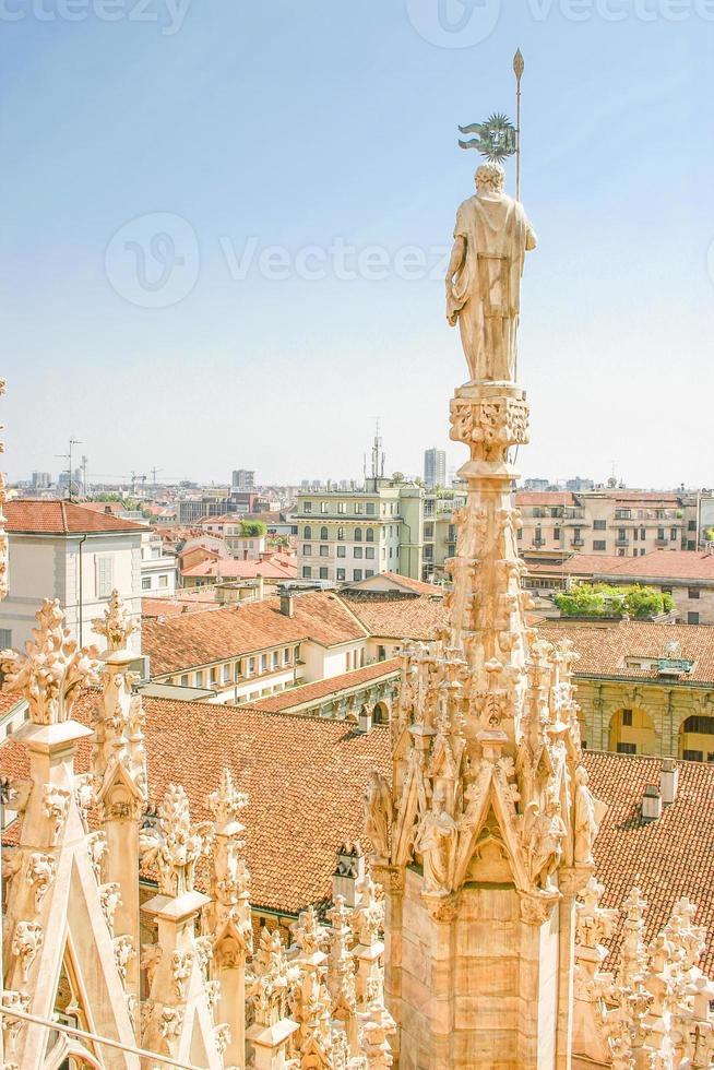 Flygfoto över Milan, Italien foto