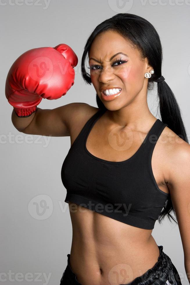 kvinnlig boxare foto