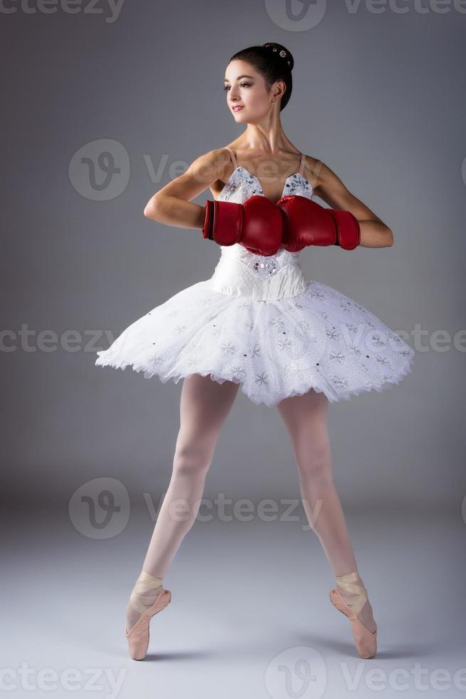 kvinnlig balettdansör foto