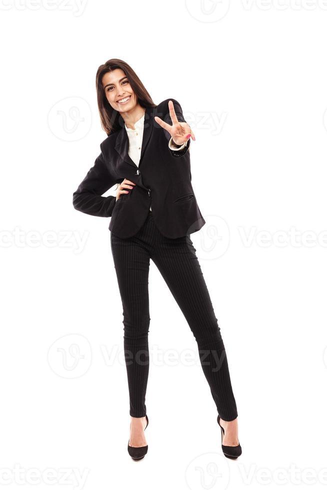 arabisk affärskvinna i full längd foto