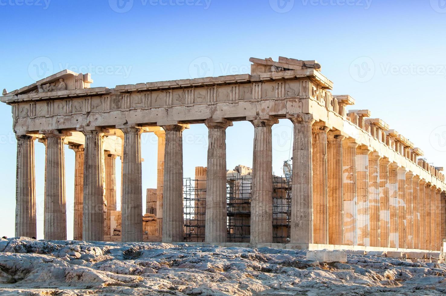 partenon i Aten, Grekland foto