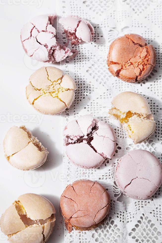 macarons på vintage bakgrund foto