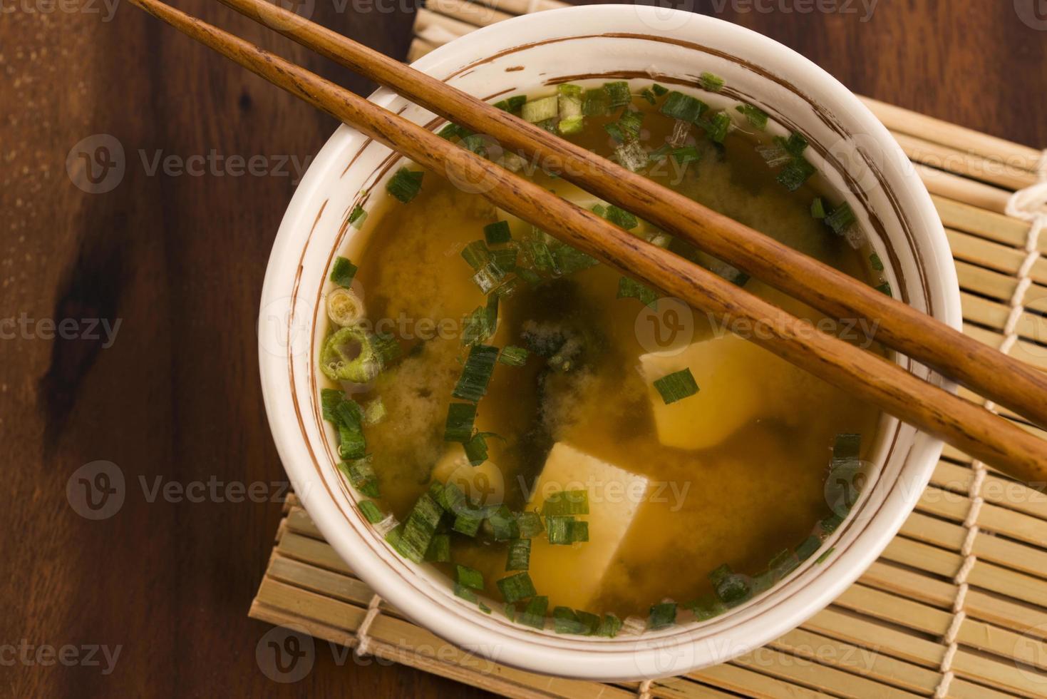 japansk miso soppa foto